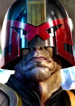 Judge dredd by ryanbrown-colour