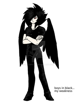 Boy In Black by KaitoPiToo