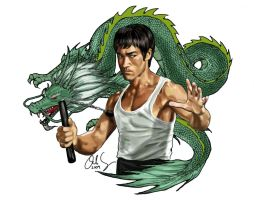 Bruce Lee nunchucks by osx-mkx