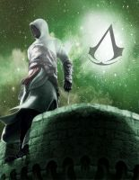Sketch: Assassin's Creed - Altair the Hoodwatcher by StramboZ