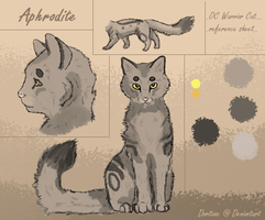 Warrior Cat Reference Sheet- Aphrodite by Briggieh