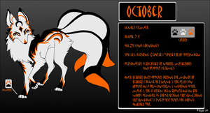 October - fox form ref by NightTwilightWolf