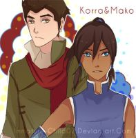 ATLK- Korra and Mako by Immature-Child02