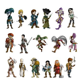 multiplayer characters by TheSnowZombie