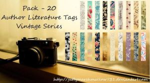 20 Vintage Series Literature Tags by fattymarshmallow731