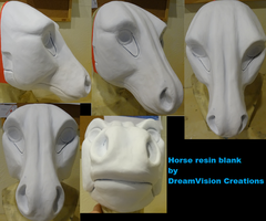 Horse resin blank by DreamVisionCreations