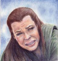 Tauriel in despair by LoonaLucy