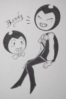 Random Bendy Drawing by DragneeEmberDragon
