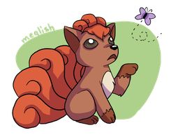 10 - Fire - Vulpix by meglish