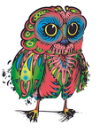Psychedelic Owl - Full Body by SqueezeBoxx