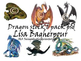 Dragon Figurine Tube Pack by FairieGoodMother