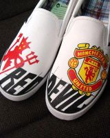 RED DEVIL , custom shoes by Annatarhouse