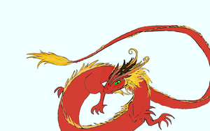 Japanese Dragon Colored by aquabluejay