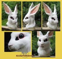 White Rabbit mask by MissRaptor