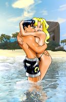 Lovers at The Beach by TonyForever