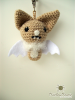 Little Brown Bat Keychain Charm by RainbowReverie