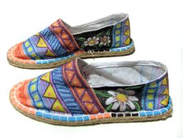painted espadrille side by FadomLord