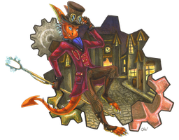 AT: Steampunk Sirin by Leithster