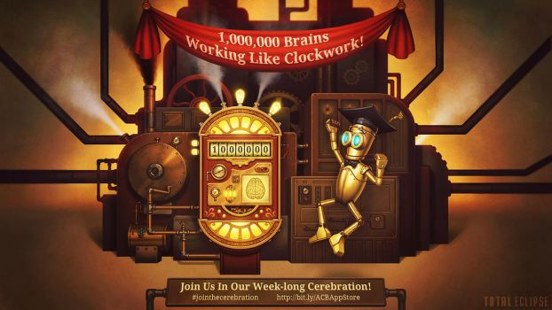 A Clockwork Brain - 1,000,000 Downloads by einen