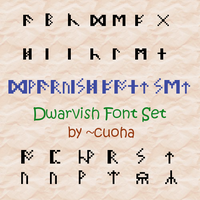 Dwarvish Font Set by cuoha
