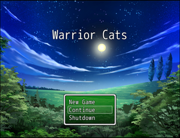 Warrior Cats Game Title Screen by TheAwesomeHetalian