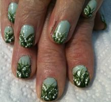 20130504 Lillies of the Valley by m-everhamnails