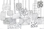 Hanging Zentangles by wonderiffic