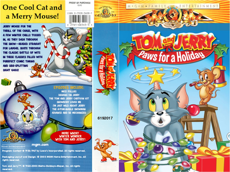 Tom and Jerry - Paws for a Holiday VHS Cover (MGM) by MalekMasoud
