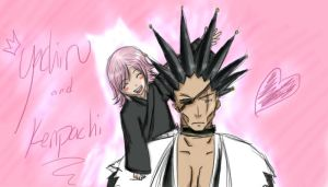 Yachiru and Kenpachi by lp-slash-queen