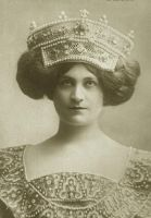 Vintage lady with a giant headpiece 002 by MementoMori-stock