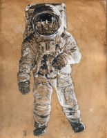 Neil Armstrong by Ondal-the-Fool