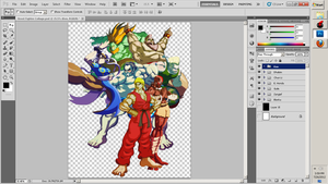 Street Fighter W.I.P. Almost DONE by ToneyHadnotJr