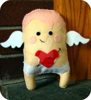 Cupid plushie, valentines day by Telahmarie