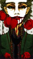 Joker with tulips by bluefeathers