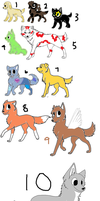 Adoptables dogs, cat, and wolf CHEAP!!!!! by starlightzs
