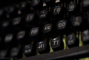 Russian typewriter by bwanot