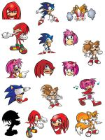 Sonic Characters 1 by michael-bowers