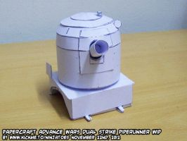 Papercraft Advance Wars Piperunner test build by ninjatoespapercraft
