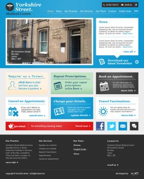 Yorkshire Street - Website Redesign by ACampion
