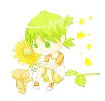 request-yotsuba and danbo by Nyaph