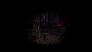 Creepy painting to right side by reimei8