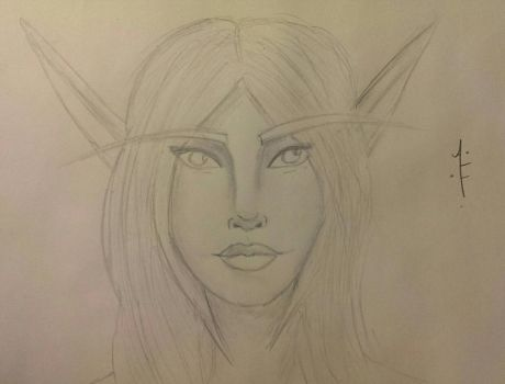 Yet another Blood Elf Doodle by AprylFools