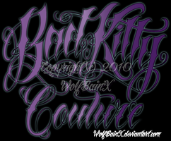 Bad Kitty Couture logo by me by wolfbainx