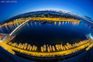 Zadar in the fish eye by ivancoric