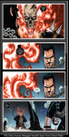 Punisher Can Handle a Stare from Ghost Rider by KeybladeMagicDan
