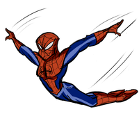 Ultimate Spiderman - Jumping Spidey by Ask-Bud