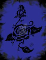 So Dark The Rose Blue Smoked by jeni-art