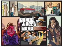 grand theft auto homage by alexmartinez