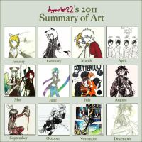 2011 summary of art by dragonartist22