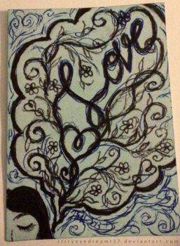 ACEO-'I Dream of Love' by strryeyedreamr27